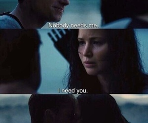 love, peeta, and katniss image