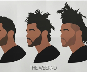 the weeknd, abel, and hair image