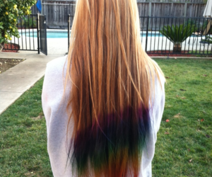 hair, rainbow, and blonde image