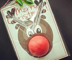christmas, lipstick, and merry christmas image