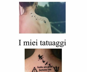 book, harry potter, and tatoo image