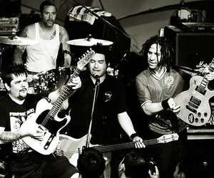 black and white and nofx image