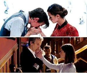 doctor who, eleven, and clara oswald image