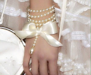 pearls, white, and fashion image