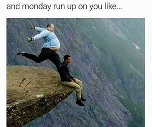 monday, funny, and weekend image