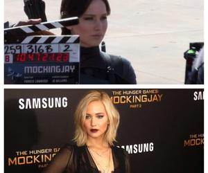 Jennifer Lawrence, the hunger games, and mockingjay image