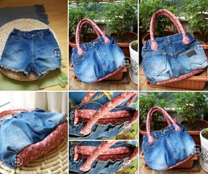 bag, diy, and jeans image