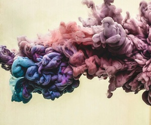 smoke, colors, and art image