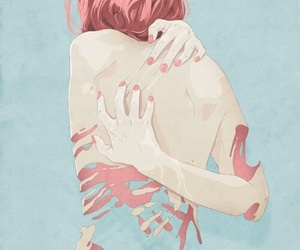 art, pink, and illustration image