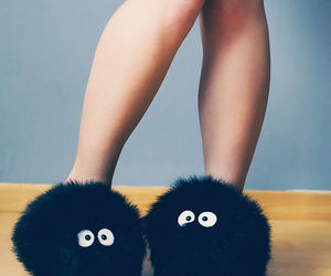 slippers, black, and shoes image