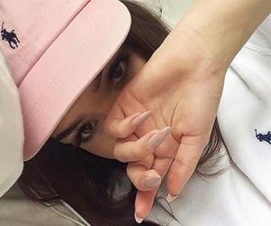 baseball cap, beauty, and eyebrows image