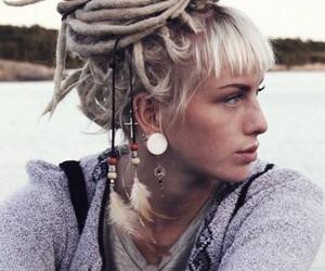 girl, dreadlocks, and dreads image