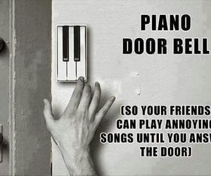 piano, funny, and door image