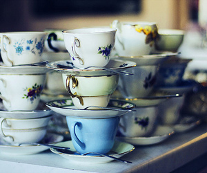 vintage, cups, and tea image