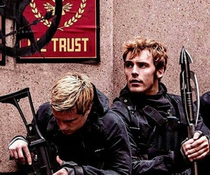 finnick, the hunger games, and peeta image