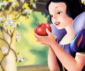 apple, disney, and the snow white image