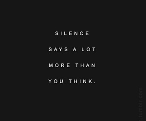 silence, quotes, and black and white image