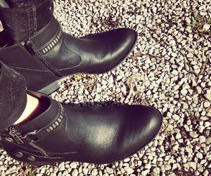 black, booties, and boots image