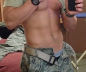 abs, army, and damn image