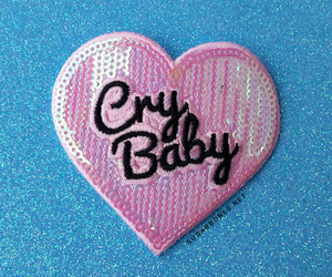 pink, cry baby, and heart image