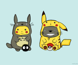 pikachu, totoro, and pokemon image
