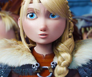 astrid, hiccup, and how to train your dragon image