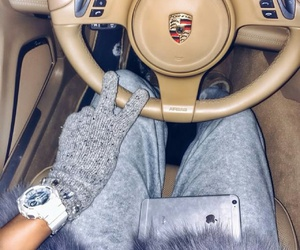 car, iphone, and money image