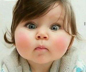 awww, baby, and cheeks image