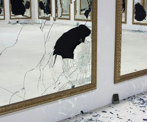 mirror, broken, and art image