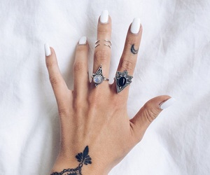 hands, nails, and tattos image