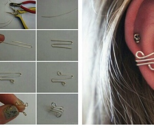 diy, earring, and tutorial image