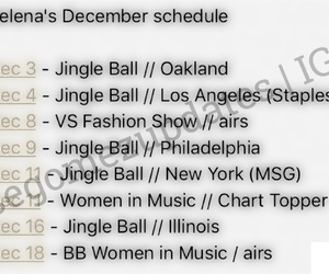 schedule, selena gomez, and jelena image