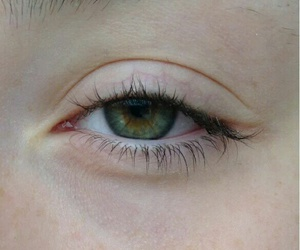 eye, green, and pale image