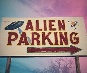 alien, grunge, and parking image