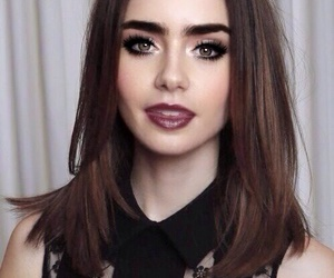 lily collins, pretty, and makeup image