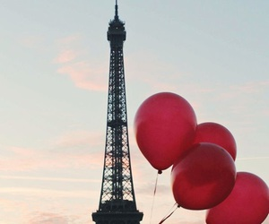 balloons, couple, and destination image