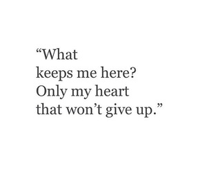 give up, heart, and heart break image