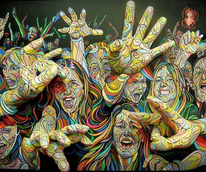 people and psychedelic image
