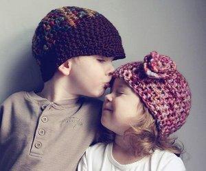 babys and kiss image