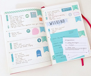 diary, organised, and study image