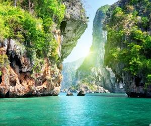 thailand, sea, and nature image