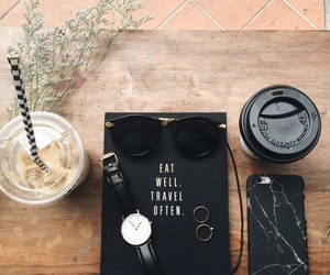 coffee, black, and watch image