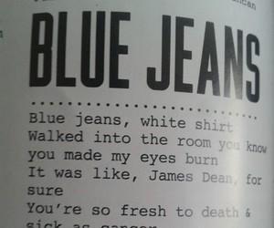 lana del rey, blue jeans, and Lyrics image