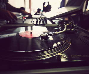 music, dj, and record player image
