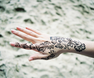 tattoo, hand, and henna image
