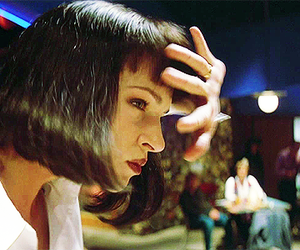 pulp fiction and mia wallace image