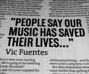 vic fuentes, pierce the veil, and music image