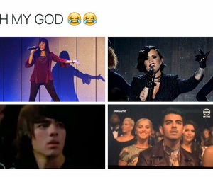 demi lovato, Joe Jonas, and funny image