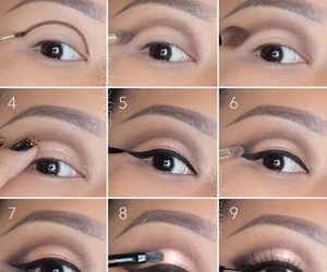 makeup, eyes, and tutorial image