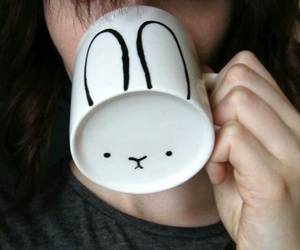bunny, mugs, and cute image